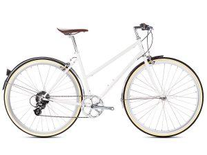 6KU Odessa City Bike 8 Speed Coney White
