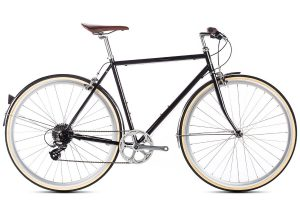 6KU Odyssey City Bike 8 Speed Delano Black