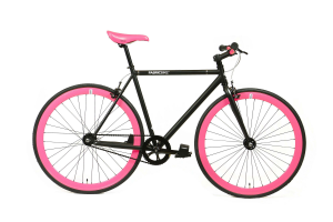 FabricBike Fixed Gear Bike - Matt Black / Pink-0