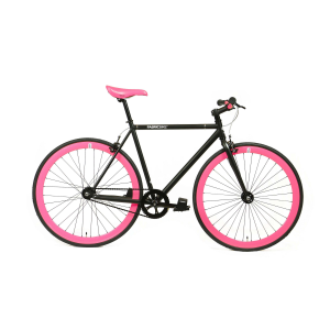 FabricBike Fixed Gear Bike - Matt Black / Pink-0