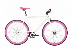 FabricBike Fixed Gear Bike - White / Pink-0