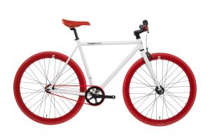 FabricBike Fixed Gear Bike - White / Red-0