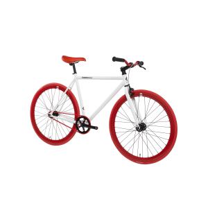FabricBike Fixed Gear Bike - White / Red-2814