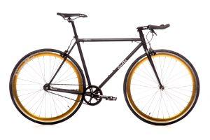 Quella Fixed Gear Bike Nero - Gold-0