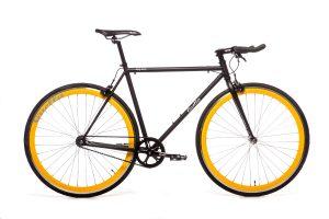 Quella Fixed Gear Bike Nero - Yellow-0