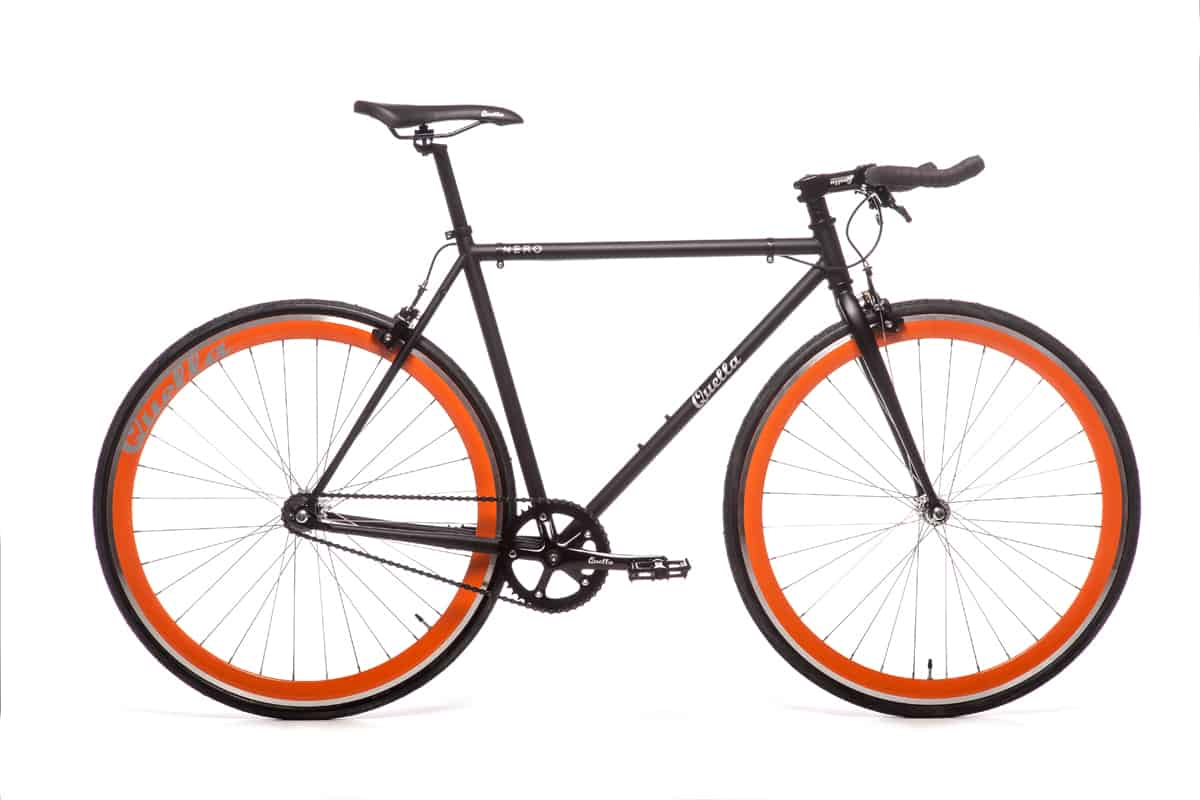 Quella Fixed Gear Bike Nero - Orange