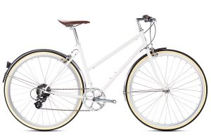 6KU Odessa City Bike 8 Speed Coney White
