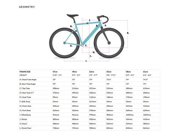 6KU Fixed Gear Track Bike Black -628
