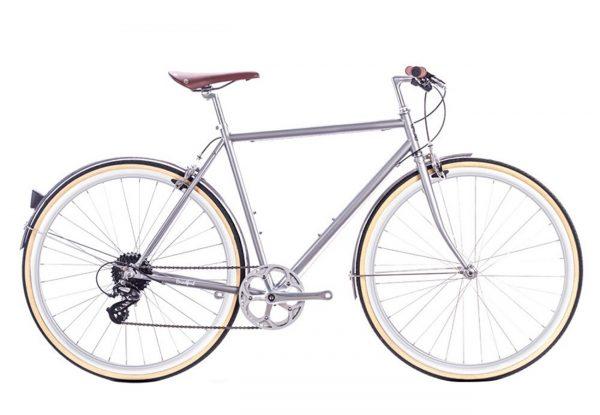 6KU Odyssey City Bike 8 Speed Brandford Silver