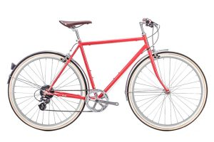 6KU Odyssey City Bike 8 Speed Lincoln Red