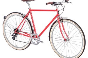 6KU Odyssey City Bike 8 Speed Lincoln Red-441