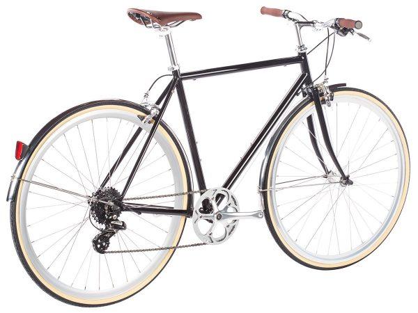 6KU Odyssey City Bike 8 Speed Delano Black