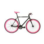 FabricBike Fixed Gear Bike – Matt Black / Pink-0