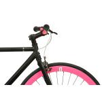 FabricBike Fixed Gear Bike – Matt Black / Pink-2864