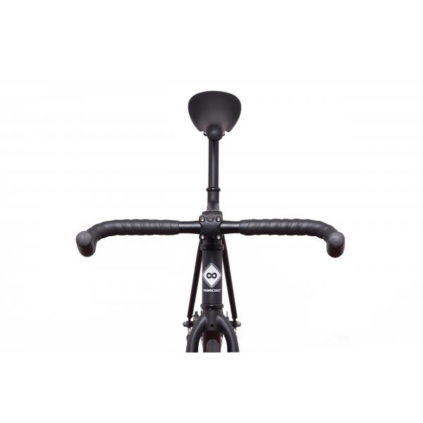 FabricBike Fixed Gear Bike - Matt Black / Pink-2865