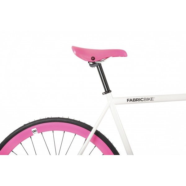 FabricBike Fixed Gear Bike - White / Pink-2872