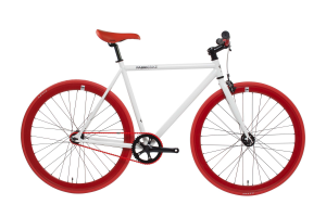 FabricBike Fixed Gear Bike - White / Red-0