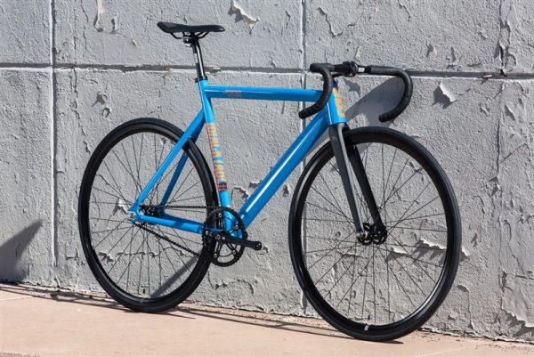 State Bicycle Co Black Label v2 Fixed Gear Bike - Typhoon Blue-6574
