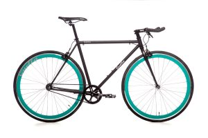 Quella Fixed Gear Bike Nero - Turquoise-0