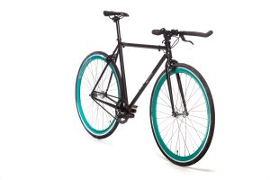 Quella Fixed Gear Bike Nero - Turquoise-7024