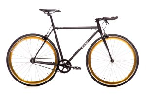 Quella Fixed Gear Bike Nero - Gold-0
