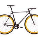 Quella Fixed Gear Bike Nero – Yellow-0