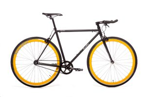 Quella Fixed Gear Bike Nero - Yellow-0