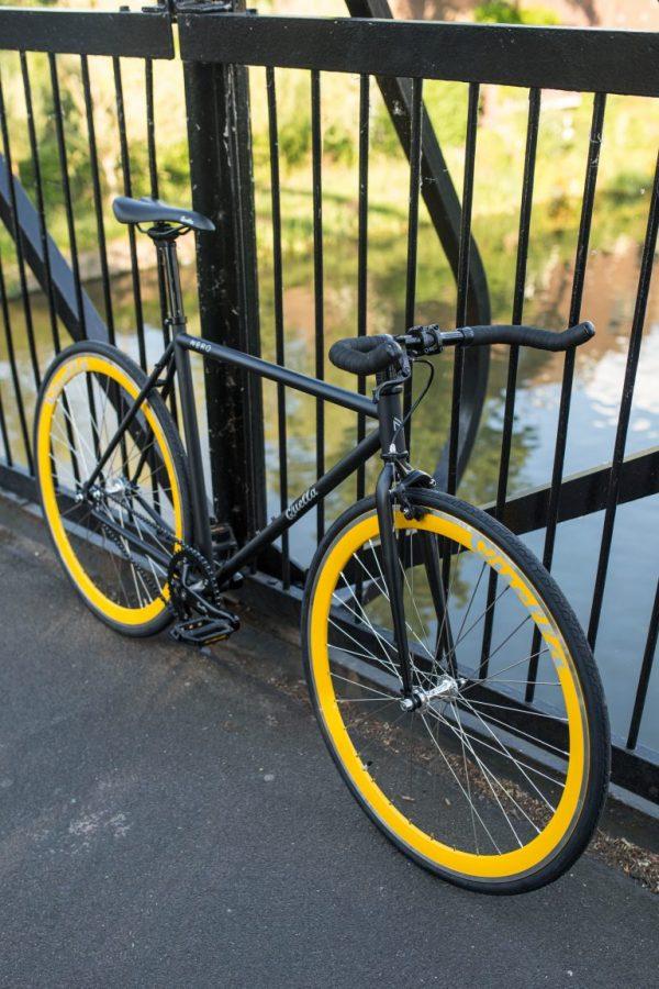 Quella Fixed Gear Bike Nero - Yellow-7007