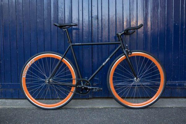 Quella Fixed Gear Bike Nero - Orange-6990