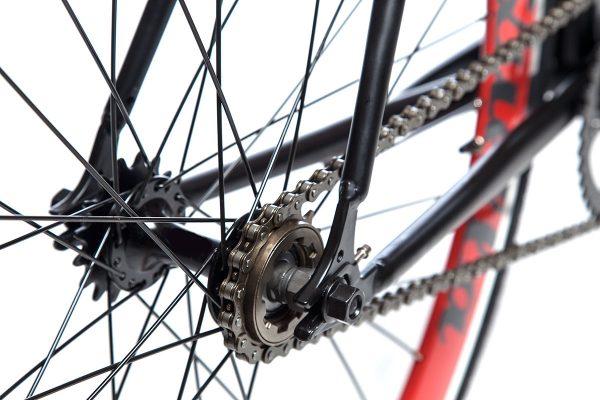 Quella Fixed Gear Bike Nero - Red-7019