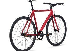 6KU Fixie Fiets Track Burgundy Rood-7203