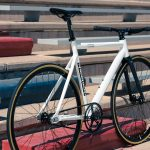 State Bicycle Co. Fixed Gear Bicycle Black Label v2 Pearl White-11296