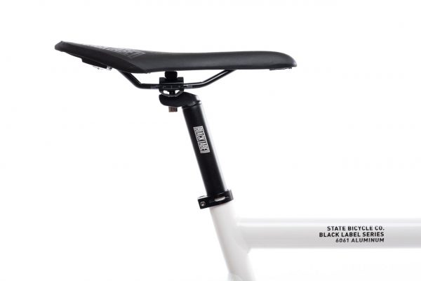 State Bicycle Co. Fixed Gear Bicycle Black Label v2 Pearl White-11284