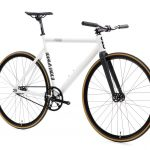 State Bicycle Co. Fixed Gear Bicycle Black Label v2 Pearl White-11285